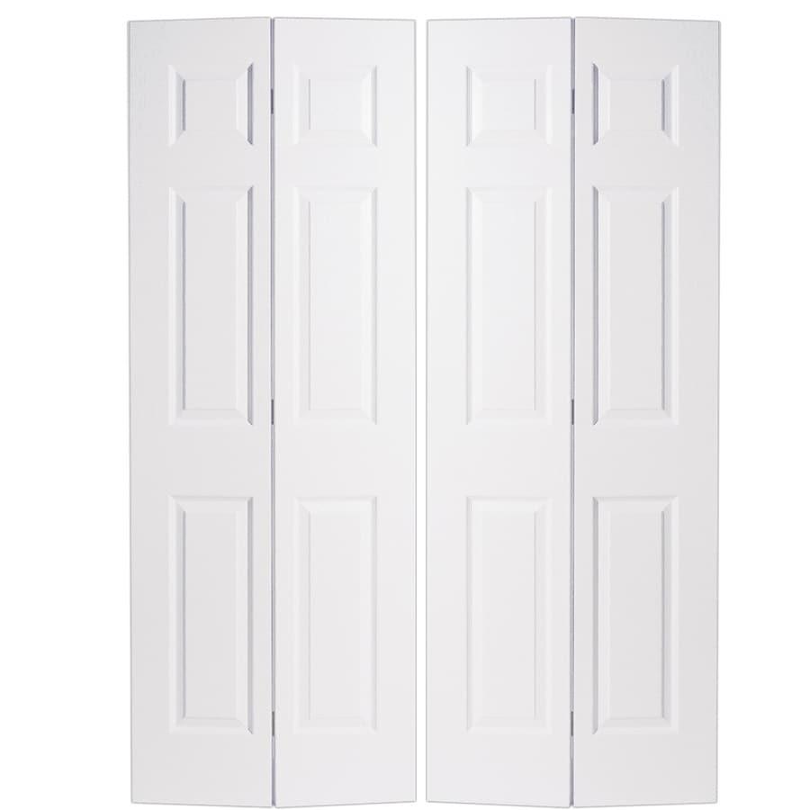Masonite Classics  6-panel Bi-fold Closet Interior Door (Common: 60-in X 80-in; Actual: 59-in x 79-in)