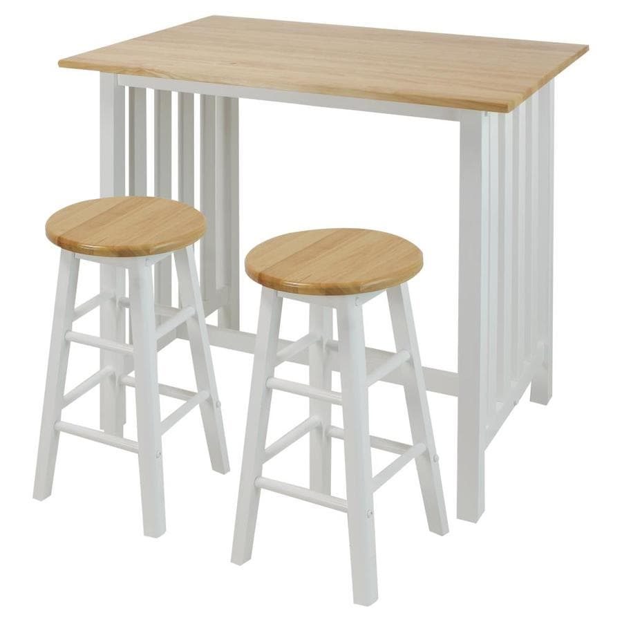 Casual Home White Wood Base With Wood Top Prep Table 23 5 In X 36 In X 34 In In The Kitchen Islands Carts Department At Lowes Com