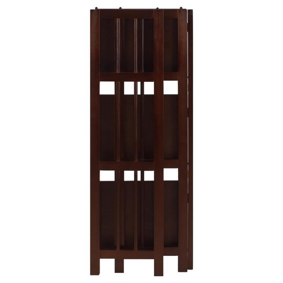 Casual Home 3 Shelf Folding Bookcase 14 In Wide Walnut
