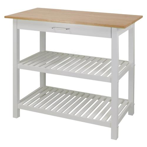 Casual Home White Scandinavian Kitchen Island at Lowes.com