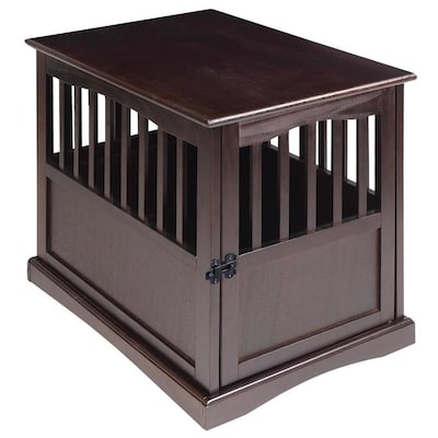 Pet Crate End Table Espresso
