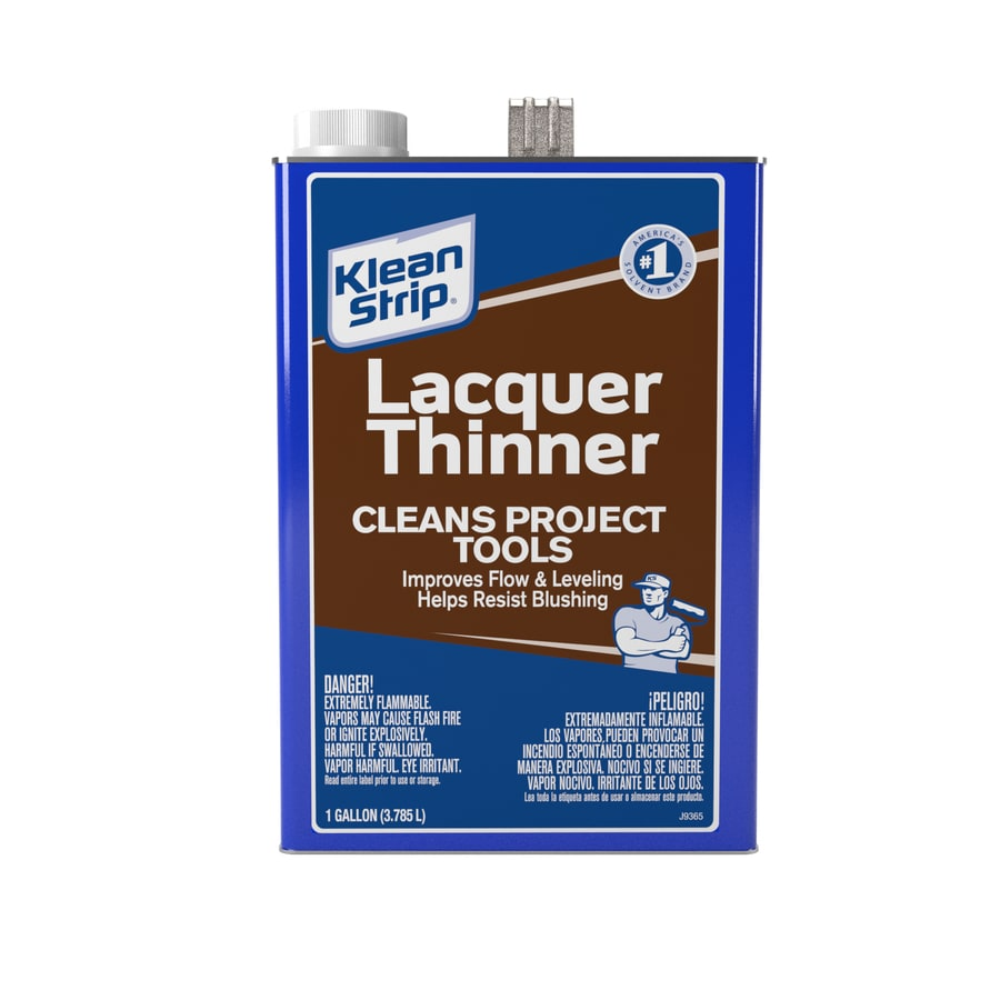 Klean-Strip Gallon Size Can Fast to Dissolve Lacquer Thinner (Actual Net Contents: 128-fl oz)
