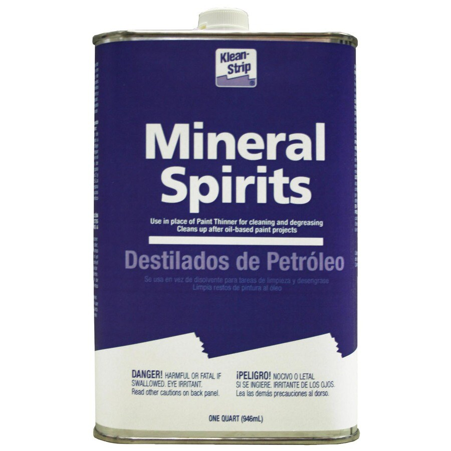 Clean strip mineral spirits