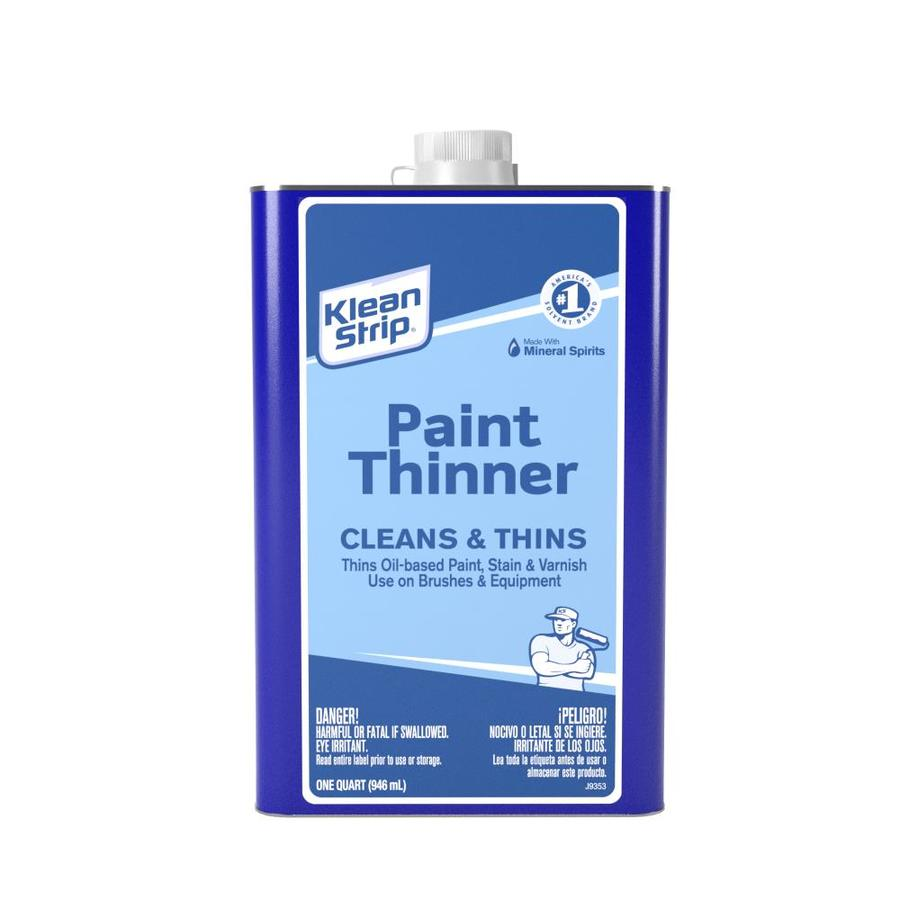 Klean-Strip Quart Size Can Fast to Dissolve Paint Thinner (Actual Net Contents: 32-fl oz)