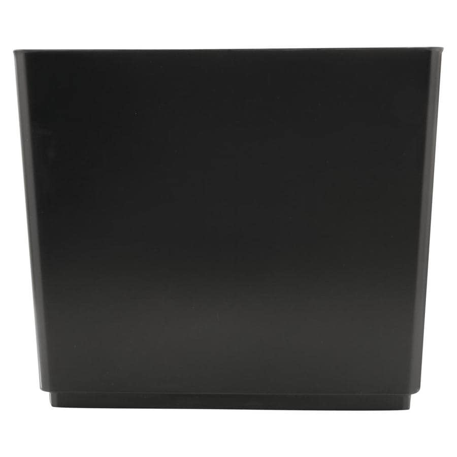 Rubbermaid Commercial Products Designer 2 Black Plastic Wastebasket