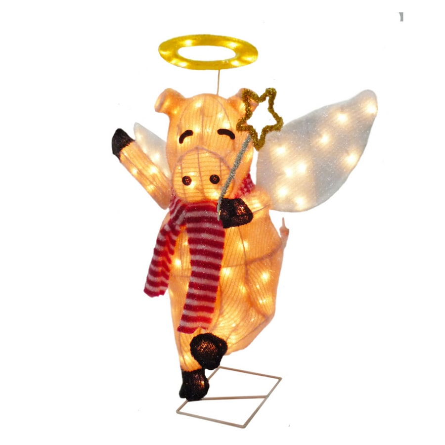 holiday living 24 animated flying pig outdoor holiday decoration
