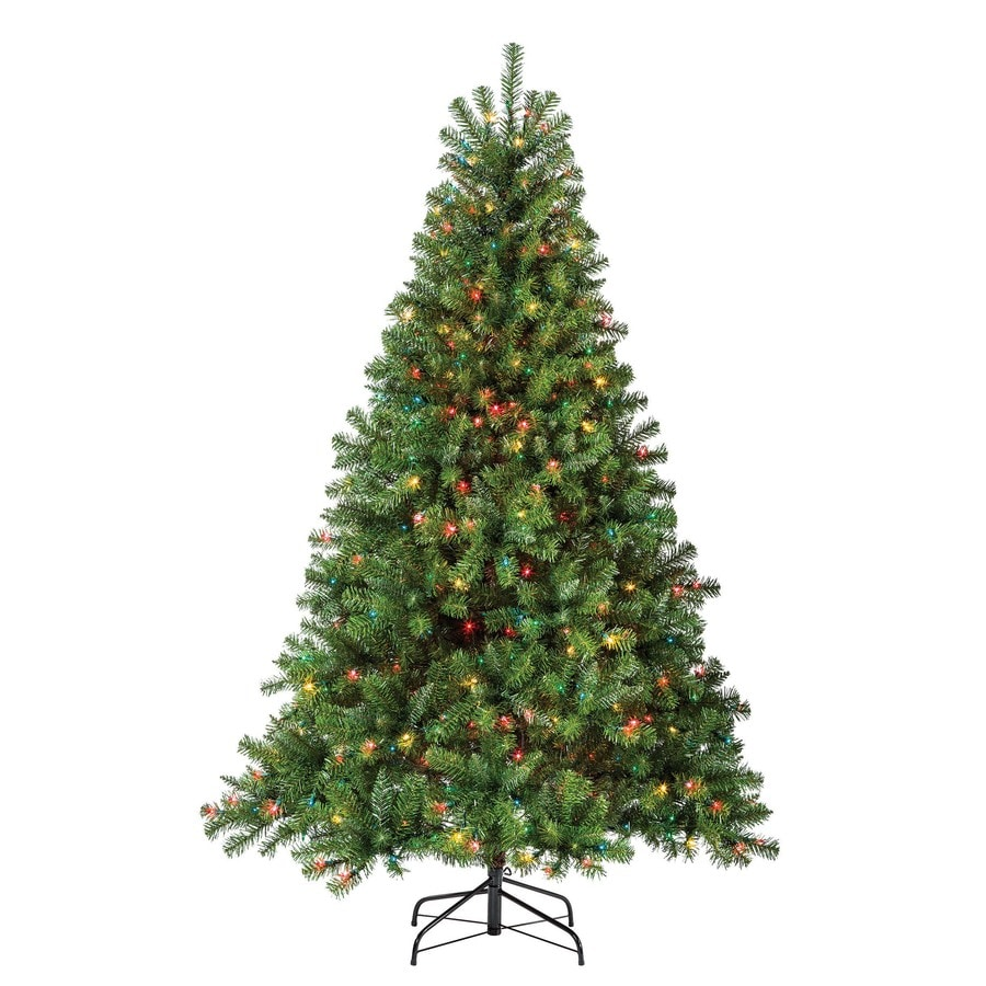 Holiday Living 6.5-ft 1000-Count Pre-lit Seneca Pine Artificial Christmas Tree with Constant 500 Multicolor Incandescent Lights