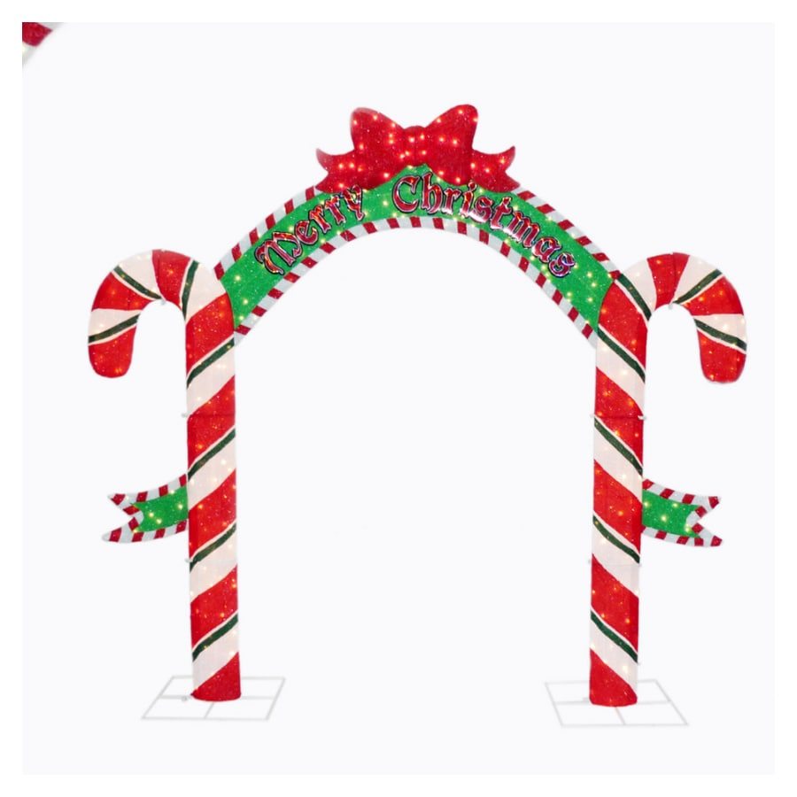 Shop holiday living 8 39 candy cane arch outdoor holiday for Archway decoration