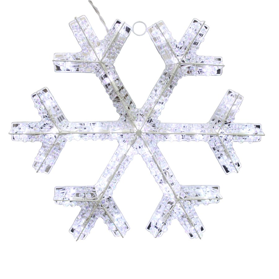 Holiday Living Pre-Lit Snowflake Snowflake with Twinkling Cool White LED Lights