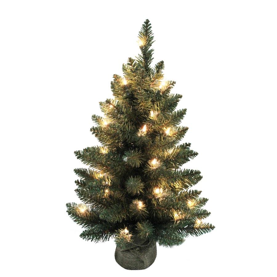 Table Top Lighted Christmas Tree: Holiday Living Christmas Plastic 2-ft Pre-Lit Tree