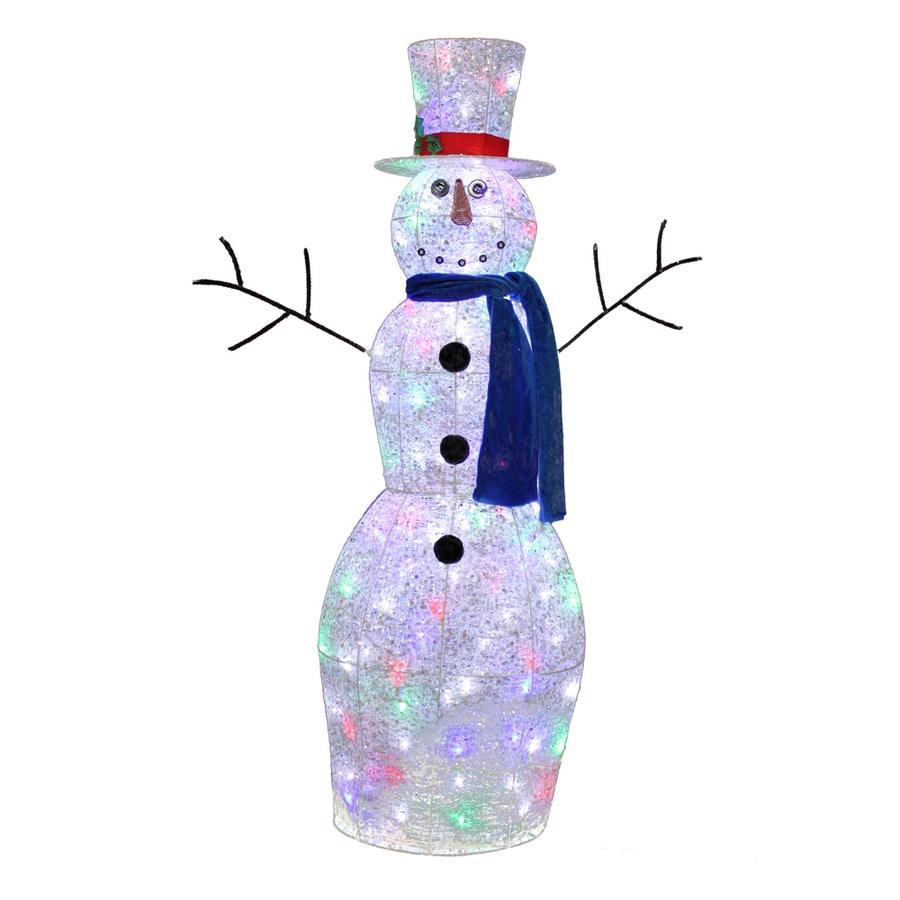 Holiday Living 4-ft Pre-Lit Twinkling Metal Christmas Snowman