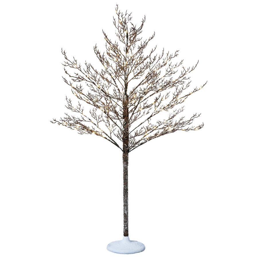 Decorative Indoor Trees Shop Holiday Living 5 Ft Indoor Outdoor Pine Pre Lit Decorative