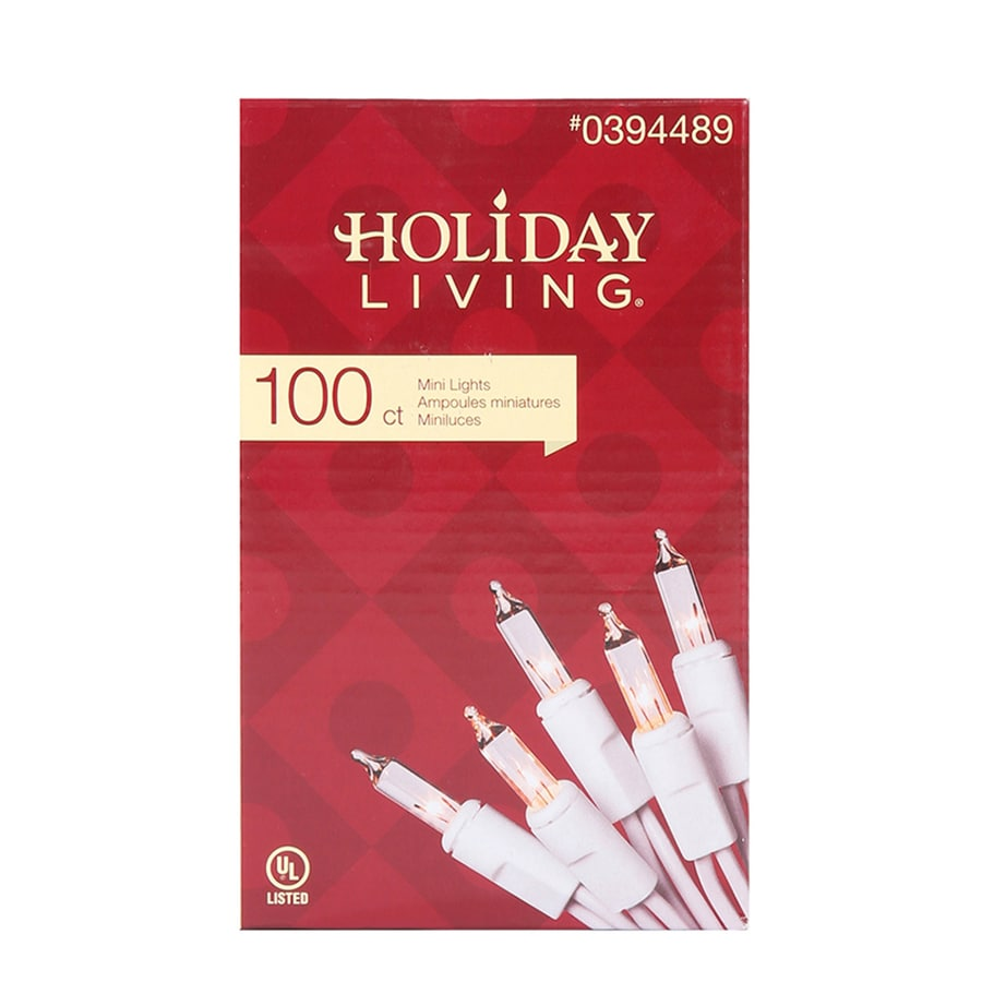 Shop Holiday Living 100 Count Constant Clear White Mini Incandescent