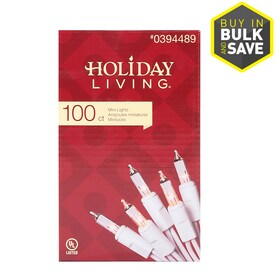 5296f1723aa6e Holiday Living 100-Count 20.62-ft Clear White Incandescent Plug-In Christmas  String