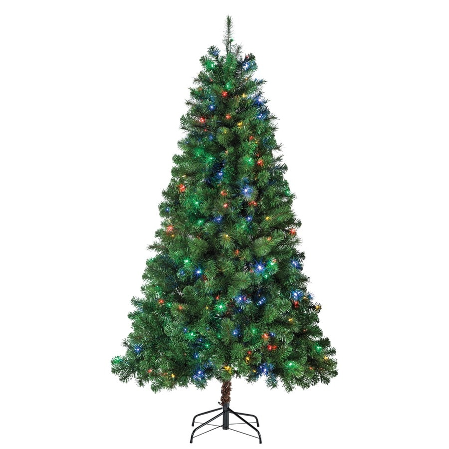 Shop Holiday Living 6.5-ft 600-Count Pre-lit Artificial Christmas ...