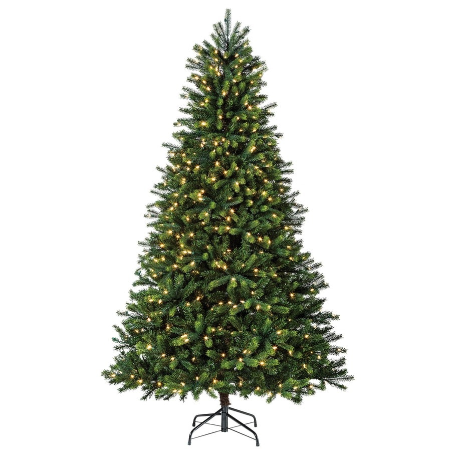 Shop Holiday Living Elegant Twinkle 7.5-ft Pre-Lit Pine Artificial ...