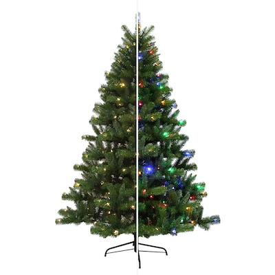 low priced 92ca8 77713 6.5-ft Pre-lit Seneca Pine Artificial Christmas Tree with 250  Multi-function Color Changing LED Lights