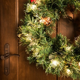 Shop Holiday Living Pre Lit Front Door Decoration Kit With