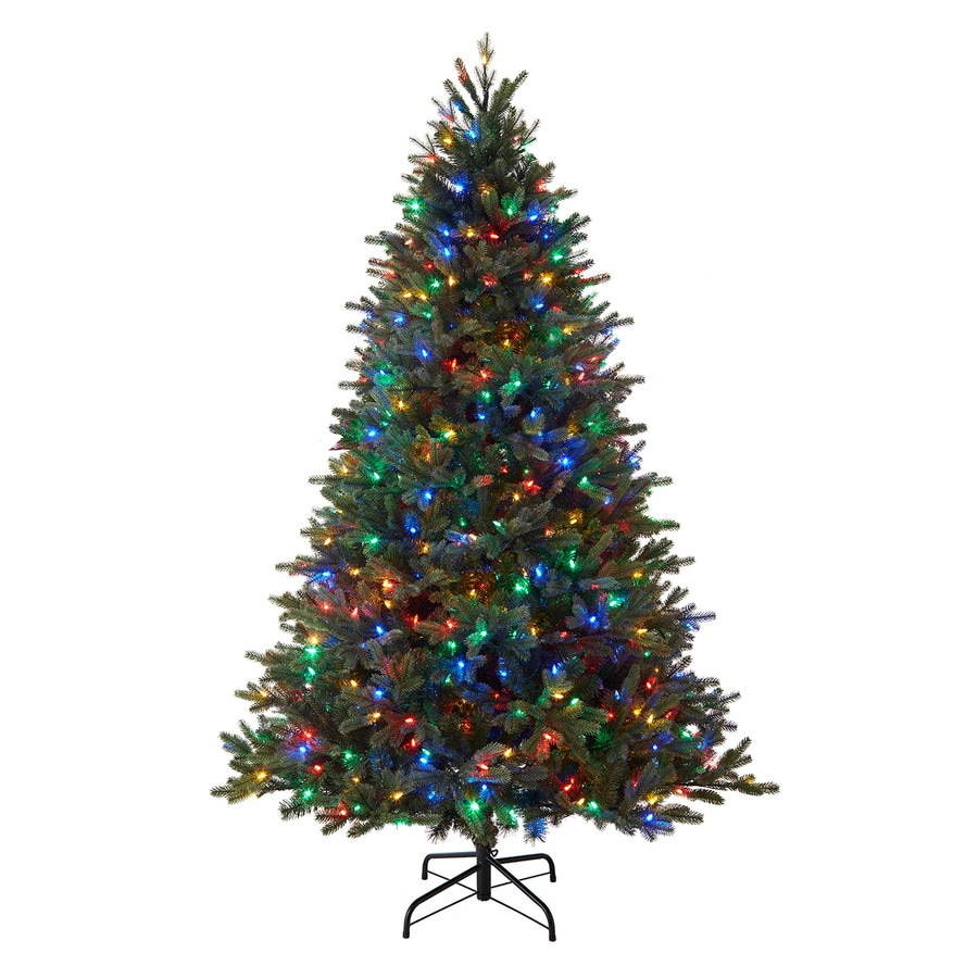 Pre Lit Led Lights Christmas Tree: Holiday Living 7.5-ft 2822-Count Pre-lit Auburn Artificial