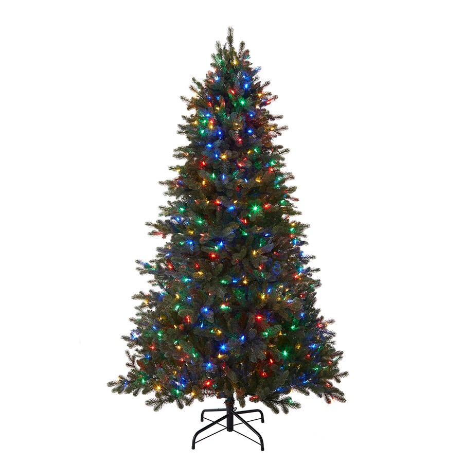 shop holiday living 7 5 ft 2974 count pre lit mansfield artificial christmas tree with multi. Black Bedroom Furniture Sets. Home Design Ideas