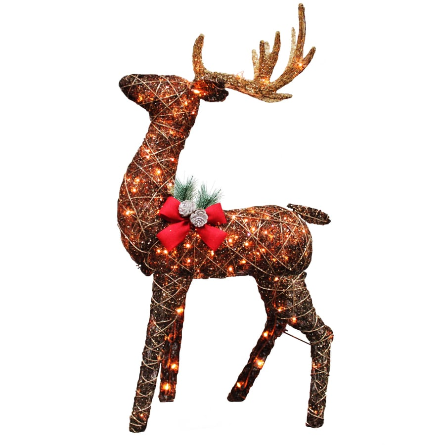 Holiday Living Pre-Lit Buck Reindeer with Constant Clear White Incandescent Lights