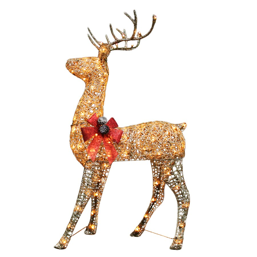 Holiday Living Pre-Lit Buck Reindeer Constant White Incandescent Lights