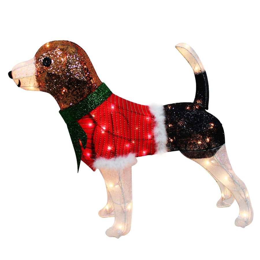 Shop Holiday Living Pre Lit Dog Sculpture With Constant