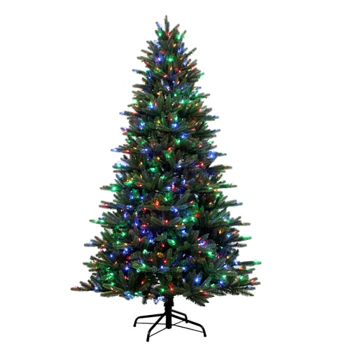 7 5 Foot Artificial Christmas Tree Multi Colored Lights: Holiday Living 7.5-ft Pre-Lit Englewood Pine Artificial