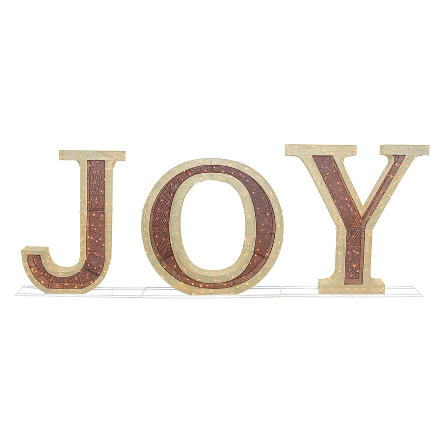 Holiday Living Pre-Lit Joy Sign with Constant White Incandescent Lights