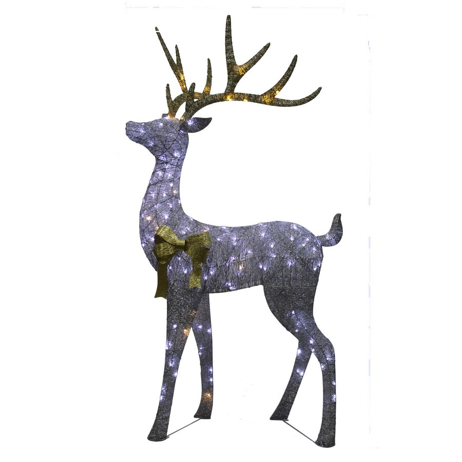 Holiday Living 7.16-ft Freestanding Elk Sculpture with Twinkling White LED Lights