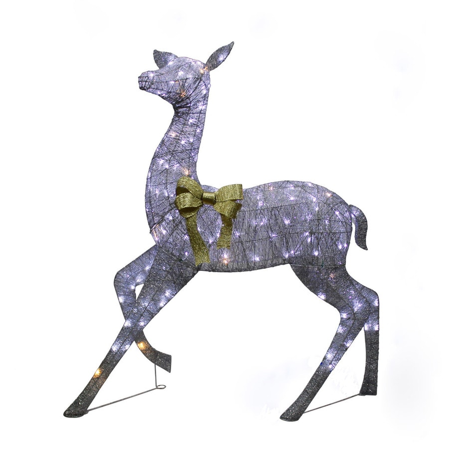 Holiday Living 5.16-ft Freestanding Elk Sculpture with Twinkling White LED Lights