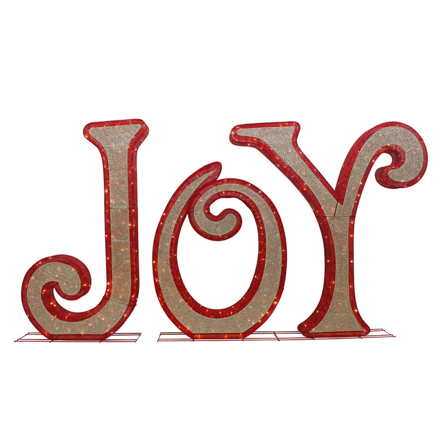 holiday living 6 ft freestanding joy sign with twinkling white led lights