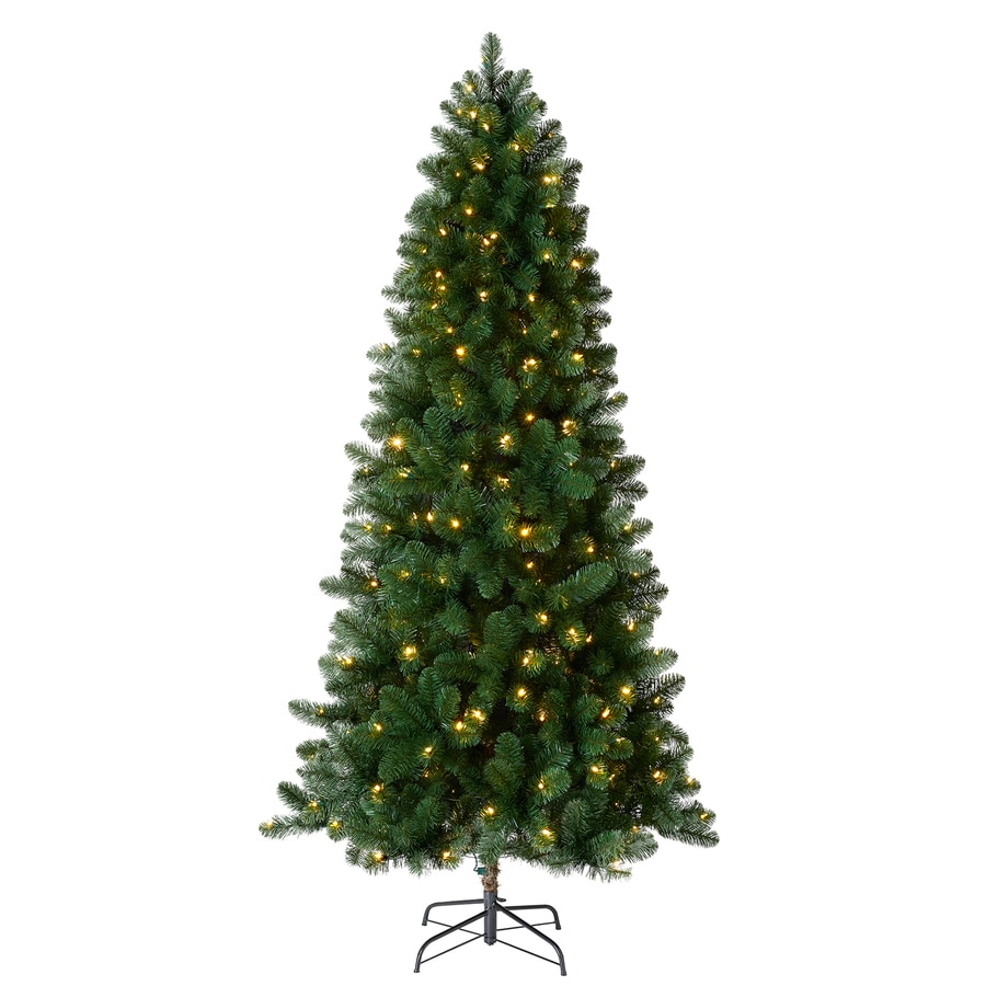 Holiday Living 7.5-ft 742-Count Pre-Lit Welch Full Artificial Christmas Tree Color Changing 300 Single Plug Color Changing (Color Lights) Led Lights