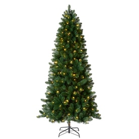 'Holiday Living 7.5-ft 742-Count Pre-Lit Welch Full Artificial Christmas Tree Color Changing 300 Single Plug Color Changing (Color Lights) Led Lights' from the web at 'https://mobileimages.lowes.com/product/converted/030539/030539035440lg.jpg'