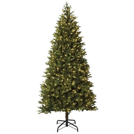 holiday living 75 ft pre lit montaspruce slim artificial christmas tree with 800 constant - Artificial Christmas Trees With Lights