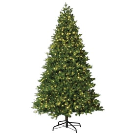 holiday living 75 ft pre lit crystal artificial christmas tree with 1200 constant warm - Christmas Tree With White Lights And Red Decorations