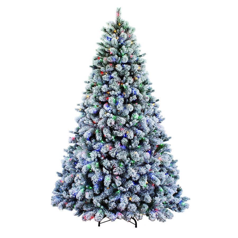 Holiday Living 7 5 Ft Pre Lit Albany Pine Flocked Artificial