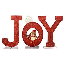 holiday living 72 in joy sign with white led lights - Mickey Mouse Christmas Lawn Decorations