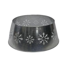 holiday living 27 in silver metal snowflake christmas tree skirt - Lowes Christmas Tree Stand