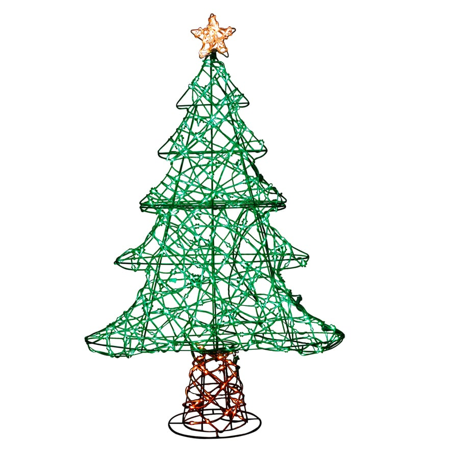 Holiday Living 36 In Christmas Tree Sculpture With Multicolor Led