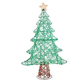 holiday living 48 in christmas tree sculpture with multicolor led lights