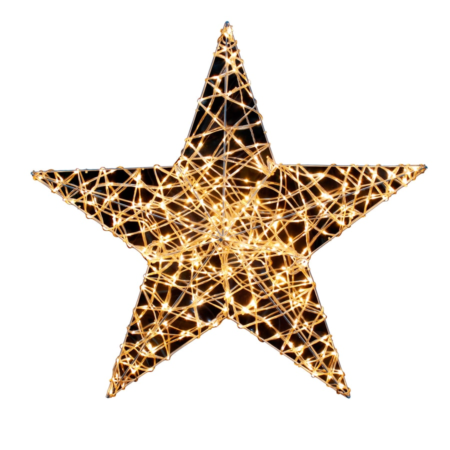 Hanging Outdoor Christmas Lights Youtube: Holiday Living 33-in Hanging Star With White LED Lights At
