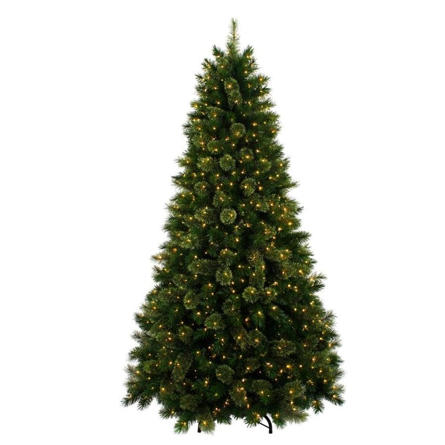 7 5 Ft Pre Lit Artificial Christmas Tree With 800 Constant Warm