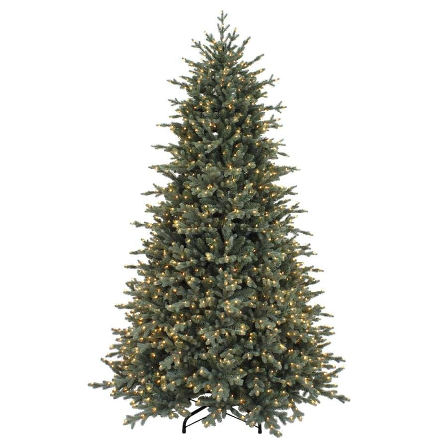 7.5-ft Pre-lit Artificial Christmas Tree with 1500 Constant Warm ...