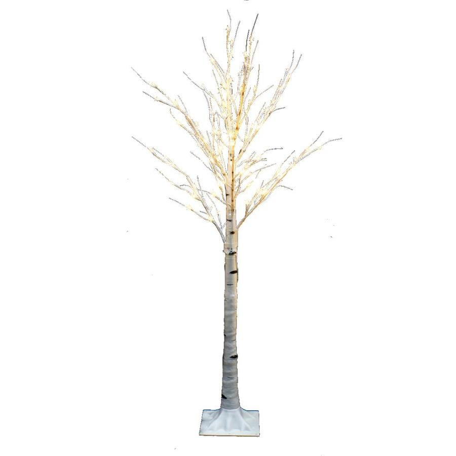 Pre Lit Christmas Twig Tree: 5-ft Pre-lit Twig Slim Artificial Christmas Tree With 64