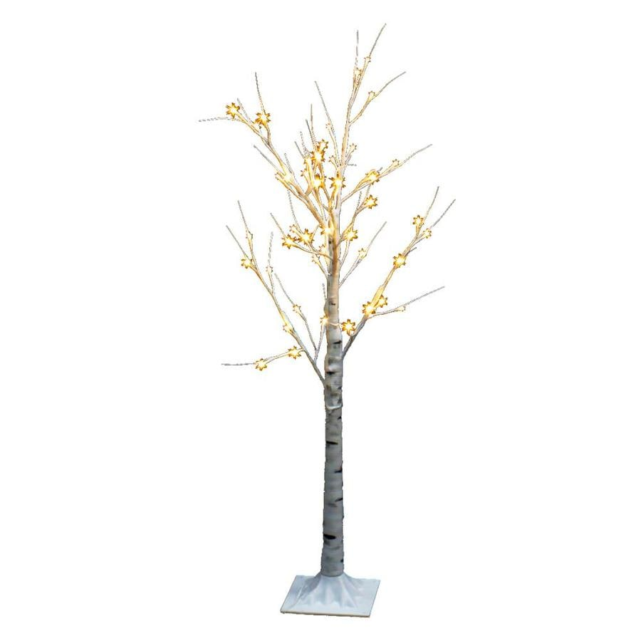 4 ft pre lit twig slim artificial christmas tree with 48 constant warm white