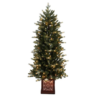 new style 87a6d 418f6 5-ft Pre-lit Flocked Artificial Christmas Tree with 300 ...