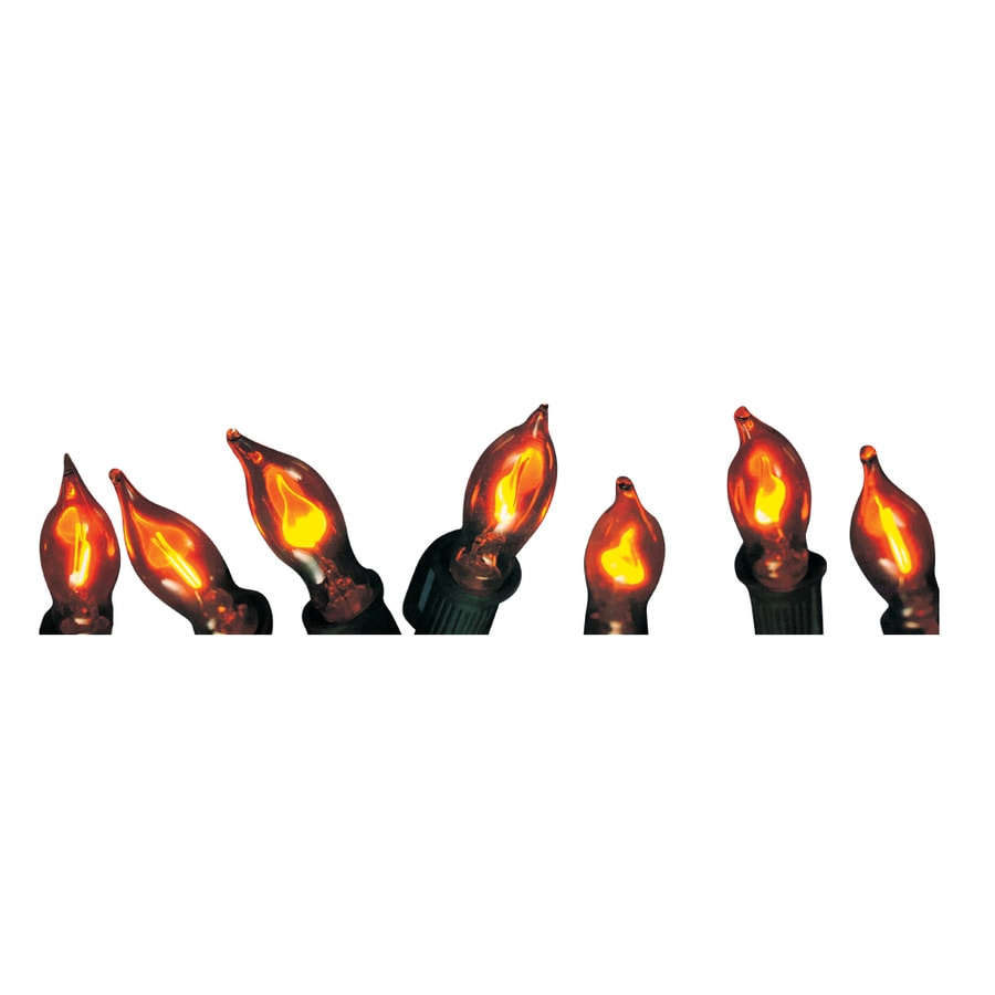 Shop Holiday Living 10-Count 9-ft Constant Clear White Flicker Flame Plug-in Indoor/Outdoor ...
