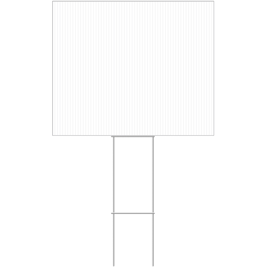 Shop Hillman 24-in x 20-in Blank Sign Sign at Lowes.com