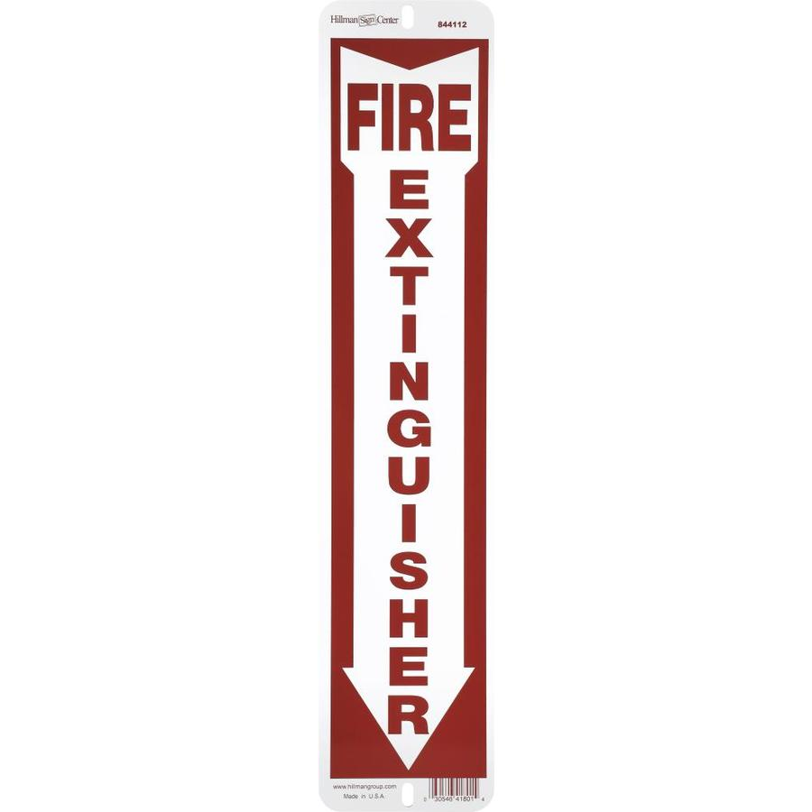 Shop Hillman 184 In X 4 In Fire Extinguisher Sign At